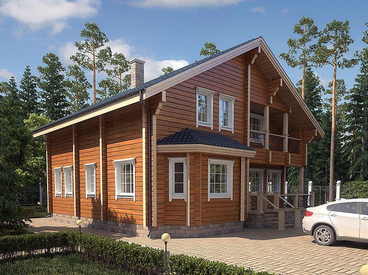 внешний вид домов из бруса фото базилик